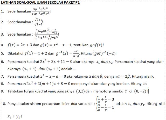 PAKET 1 NO 1 SD 10