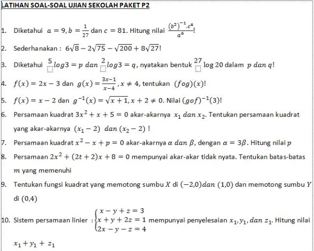 PAKET 2 NO 1 SD 10