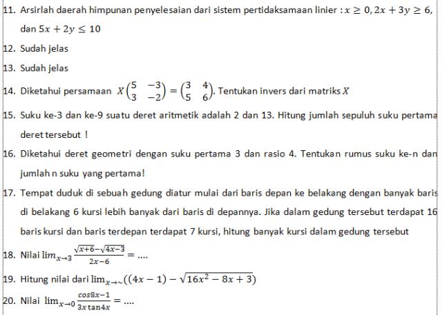 PAKET 2 NO 11 SD 20