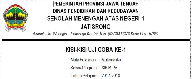 KISI-KISI 1